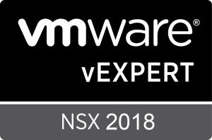vExpert 2018 NSX